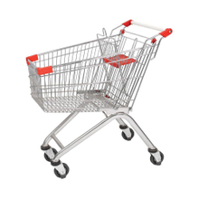 125L European Matel Supermarket Shopping Cart for Sale