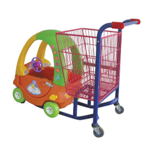 Kiddy Children Shopping Cart with Plastic Toy Car Shape