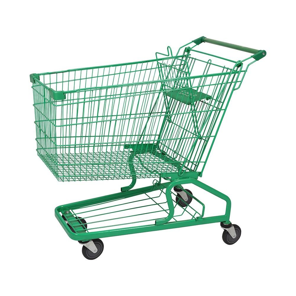 240L German High Capacity Shopping Trolley with Baby Seat