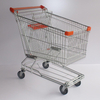 180L Asian Reasonable Price Steel Material Supermarket Trolley