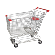 210L Asian Modern Escalator Metal Supermarket Carts