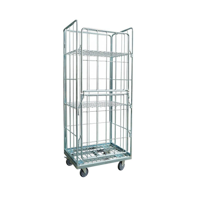 Scale Heavy Duty Rolling Wire Mesh Storage Cage for Cargo Collecting