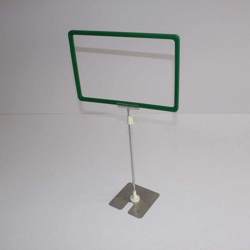 Metal base pop display holder with price board for supermarket