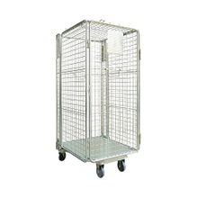 Heavy Duty Rigid Rolling Collapsible Wire Cage Container with Caster