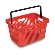 Rectangular Wire Storage Basket Fabric Handle Shopping Basket