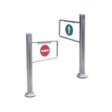 Supermarket Waist Height Tripod Turnstile Single Sided Entrance