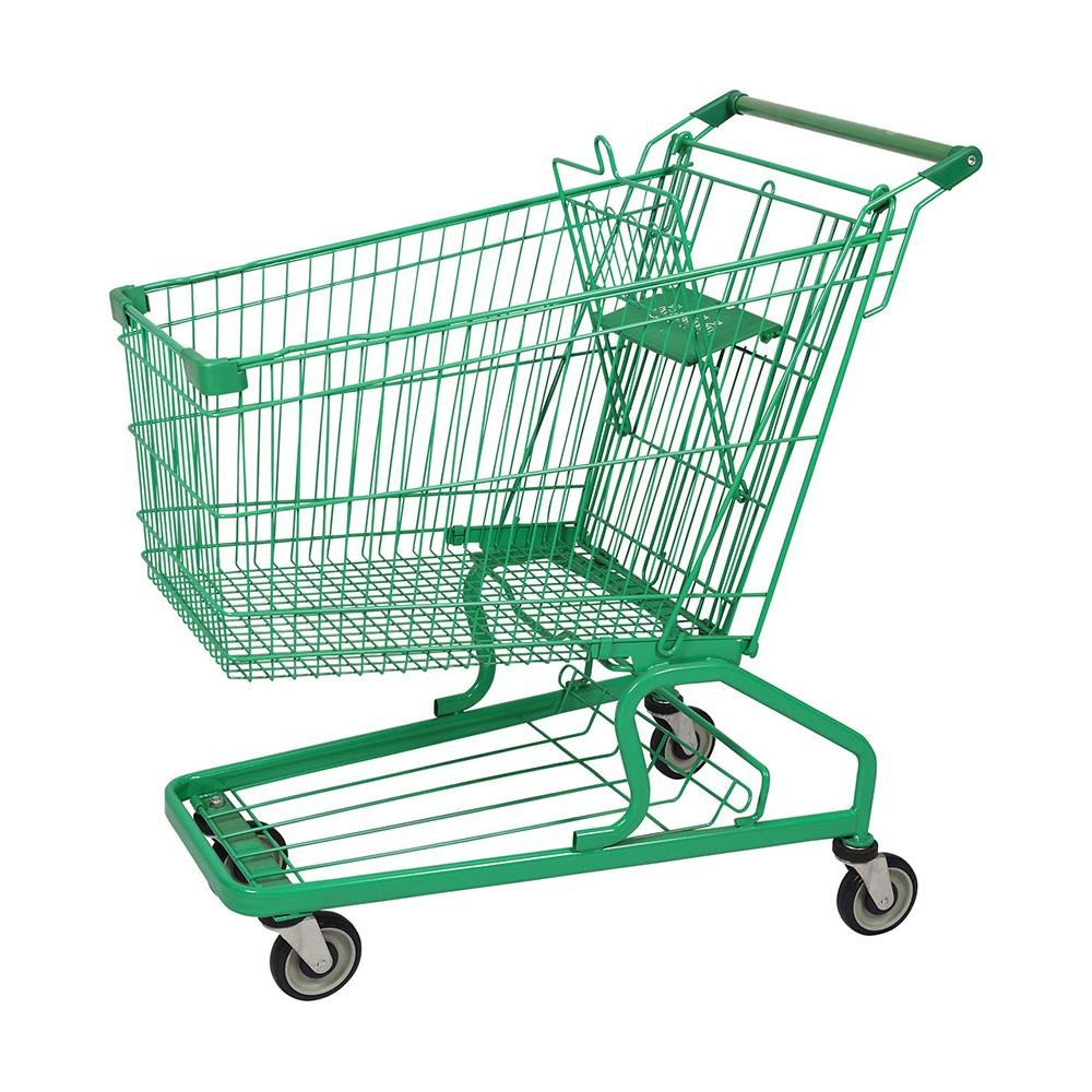 German Green Coated Shopping Trolley