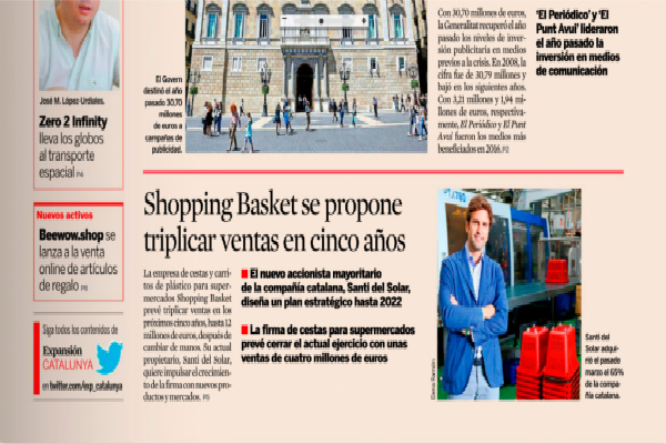 shopping basket appeared once again in the media