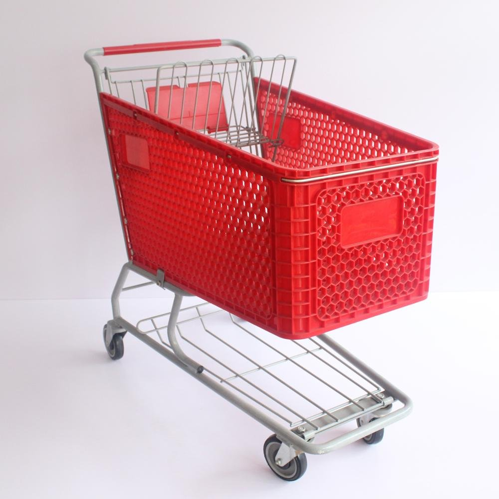 100L Professional Manufacturer of Plastic Shopping Trolley