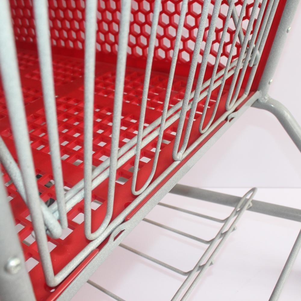 165L New Style Supermarket Plastic Shopping Trolley