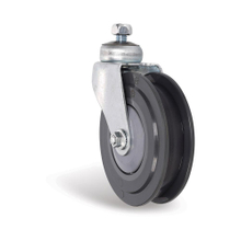 PU elevator wheel in 2 blades for supermarket trolleys